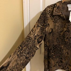 Coldwater Creek sheer blouse size Large NWT VTG